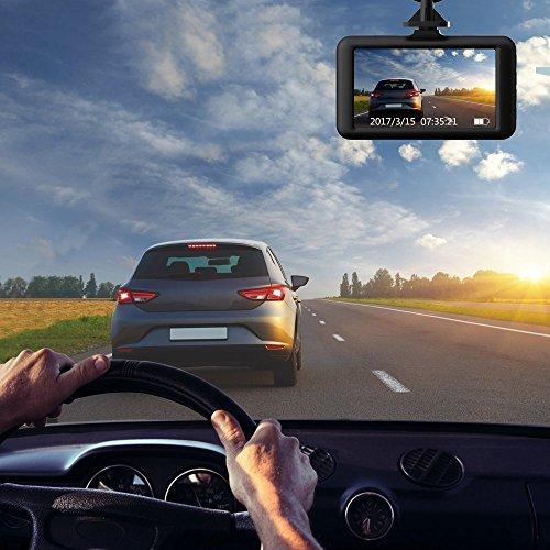 Cámara de Coche Dash CAM 1080P Full HD 170°Ángulo Cámara para Coche G- Sensor Detección de Movimiento Grabación en Bucle HDR con Visión Nocturna