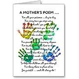 a Mothers Poem Teachers Thankyou Nursery Gift Present Greeting Birthday, Notelet