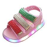 Juleya LED Sandalias niños pequeños luz de los Zapatos de Playa Intermitente Rosado Size 22