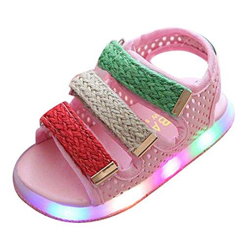 LED Sandale Schuhe Jungen Mädchen Kleinkind Strand Schuhe Rosa Size 29