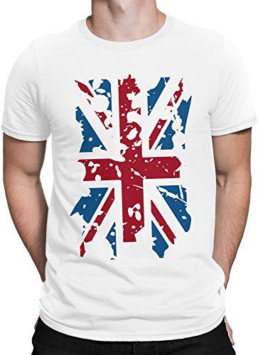 vanVerden Unisex T-Shirt XS-5XL United Kingdom / uk / England Flagge Weiß
