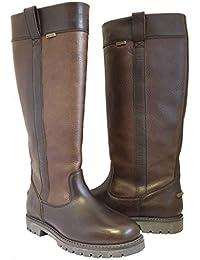 Kanyon Aspen botas–Ladies Comfort impermeable botas de piel largo país, marrón oscuro