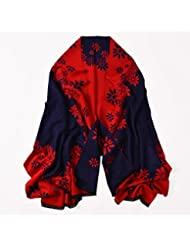 Cepillado doble hembra cálido invierno Bufanda Bufanda Bufanda y plumas Dual-Purpose All-Match temperamento,Lavanda