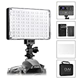 GVM LED video Light Studio fotografia Light Panel dimmerabile RGB CRI 97 + 2000K-5600K ultra luminosità Bi-Colour per fotocamera digitale/videocamera DSLR con batteria al litio