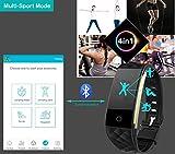 Willful SW328 Fitness Tracker mit Pulsmesser – Wasserdichte Fitness Armband Puls Armband Aktivitätstracker Schrittzähler Uhr mit Schlafmonitor Kalorienzähler Vibrationsalarm Anruf SMS Whatsapp Beachten mit iPhone Android Handy kompatibel - 8