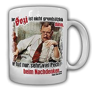Alfred Tetzlaff Der Sozi ist nicht grundsätzlich dumm er hat nur sehr viel Pech beim nachdenken Fun Humor Spaß- Tasse Kaffee Becher #9801