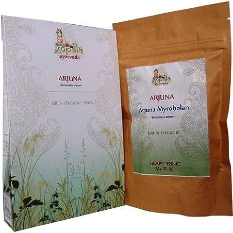 3 x 108 Organic Arjuna Capsules 500mg each (Terminalia arjuna) (Arjuna Myrobolan) 100% USDA Certified