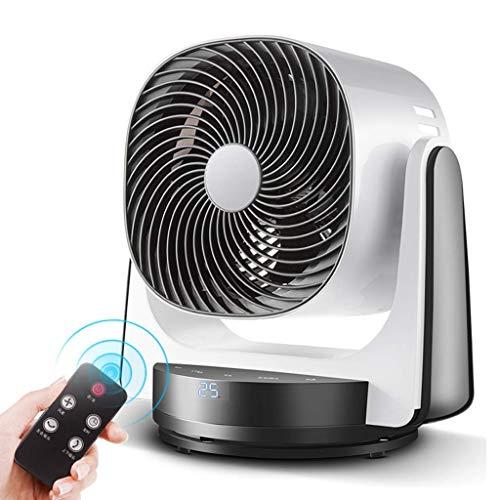 YZD@ Mobile Klimagerä Turbinen Luftumwälzventilator - Turbinen Desktop Klimaanlagenventilator mit 5 Flügeln / 3 Geschwindigkeiten und 3 Modi / 8 Stunden Timer/Fernbedienung / 3D-Umwälzwind für 40 m2