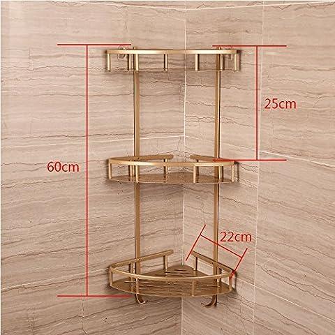 Bagno Bagno parete dello spazio rack in alluminio docce bagno ripiani ad angolo a 3 piani cucina triangolo rack di storage