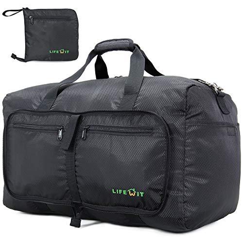 Lifewit Sporttasche für Männer Frauen Faltbar Groß Reisetasche Wasserdicht Leicht Wochenende Kinder Junge Gym Bag Schwarz