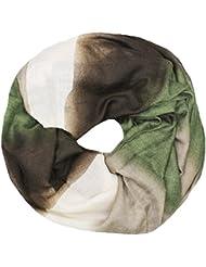 Mevina Schal Dip Dye Farbverlauf Loop Muster Baumwolle Schlauchschal Halstuch Damen