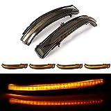 Dynamische LED Seitenspiegel Blinker Blinker für N-issan Q-ashqai X-Trail T32, J11 Murano Z52 Juke Navara NP300 Pathfinder (Geräuchert)
