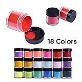 Gaddrt Neue 18 Farben Acryl Nail Art Tipps UV Gel Pulver Staub Design Dekoration 3D Maniküre