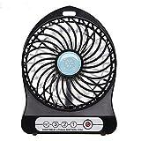 LingsFire Portable Mini électrique rechargeable Fan 3 délais bureau Summer Cooler Fan USB ou à piles Summer...