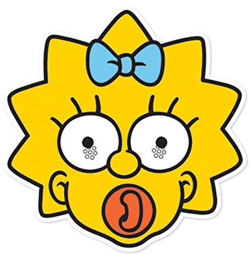 Kostüm Simpson Maggie - empireposter Simpsons, The Maggie - Maske Papp Maske, aus hochwertigem Glanzkarton mit Augenlöchern, Gummiband - Grösse ca. 30x20 cm