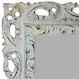 Wandspiegel CMGdecor mit Holzrahmen Modell:403 ( 70 x 100 cm ) Weiß gold