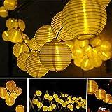TAOtTAO Solar Outdoor Fairy Laterne für Party Garten Home Hochzeit Beleuchtung Dekoration (Gelb)