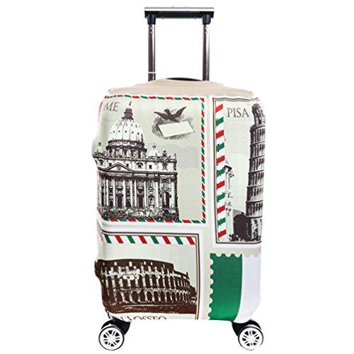 YiJee Thicken Wearproof Elasticidad Cubierta de Equipaje de Viaje Maleta Funda Protectora 18-32 Pulgadas Como La Imagen 4 M