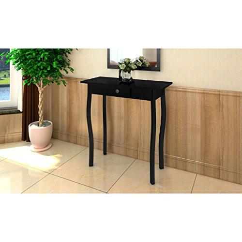 vidaXL Tavolini per ingresso legno MDF nero