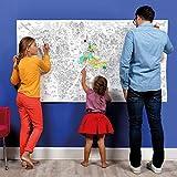 OMY Rouleau de Coloriage géant  XXL carte du monde- Atlas (format 180 x 97,5 cm)- l'orignal XXL