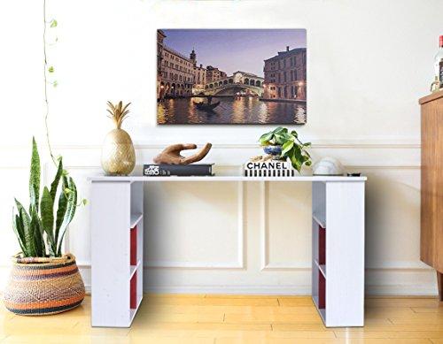 Ripiani In Legno Per Tavoli : Mobili rebecca scrivania per computer tavolo ufficio con ripiani