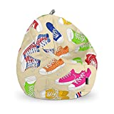 HAPPERS Junior Sitzsack Sneaker, Stoff, Mehrfarbig, 70x 70x 70cm
