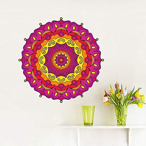yiyitop Kunst juwel Mandala wandaufkleber Vinyl Dekoration Laptop Schlafzimmer Wohnzimmer religiöses Symbol Yoga Auto Aufkleber Kosmos wandbild 43 * 43 cm