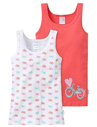 Schiesser Mädchen 2-Pack Hemd Unterhemd, Mehrfarbig (Sortiert 8 901), 98 (2er Pack)