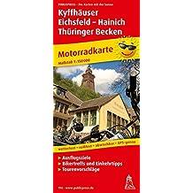Kyffhäuser - Eichfeld - Hainich - Thüringer Becken: Motorradkarte mit Tourenvorschlägen, Ausflugszielen, Einkehr- & Freizeittipps, reissfest, ... GPS-genau. 1:150000 (Motorradkarte / MK)