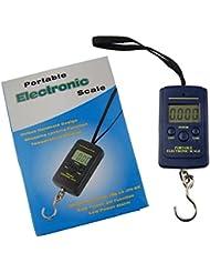 Shaddock pesca® Nuevo 40kg 88lb Mini portátil electrónica LCD retroiluminación de la pantalla Digital equilibrio postal para colgar gancho de pesca equipaje escala, Mostrar Temperatura Función