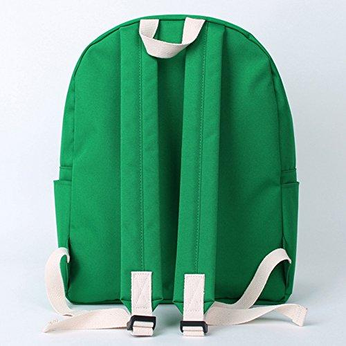 Bubilian BTBB Backpack / Korean Street Brand / School Bag / Travel Bag (Indie Blue) Green