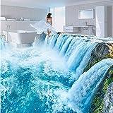 Mbwlkj Benutzerdefinierte Fototapete 3D Wasserfälle Landschaft Bodenfliesen Wandbilder Aufkleber Badezimmer Schlafzimmer Pvc Wasserdicht Tragen Boden Tapeten-400cmx280cm