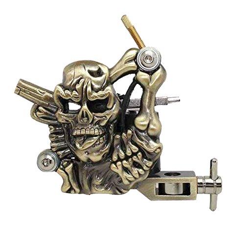 Totenkopf und Pistole Tattoo-Maschine/Tätowiermaschine (Skull & Gun Tattoo Machine) (Maschine Pistole)