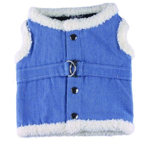 hundeinfo24.de Doggy Dolly DCL048 Jeans Soft Hundegeschirr Jeans, Größe : XXL