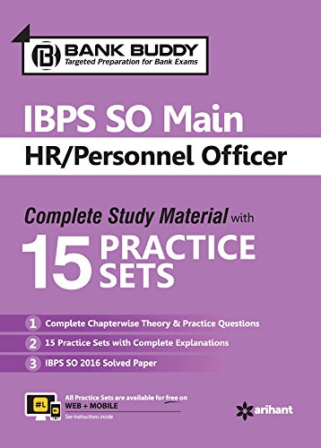 15 Practice Sets IBPS SO Main HR Personnel Officer