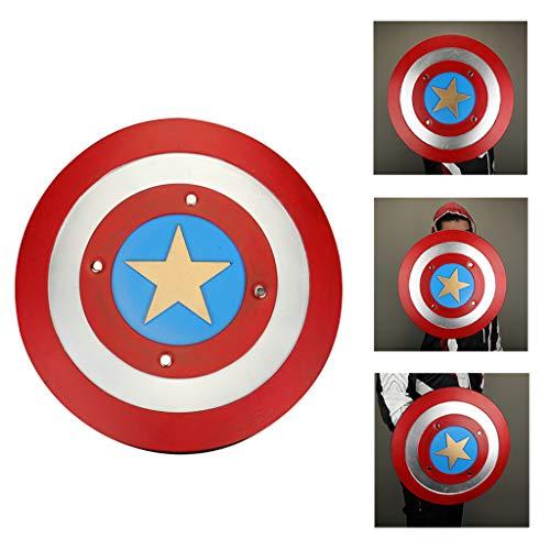 Captain America Shield PU-Schaum Waffen Erwachsene Kostümzubehör Kriegsrequisiten Faltbar für Halloween Kostüme Zubehör für Halloween Party,Multicolor,43CM