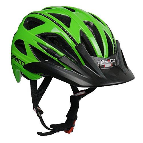 Fahrradhelm für Kinder Casco Activ 2 Junior, grün glanz - Biese schwarz, Gr. S (52-56 cm)
