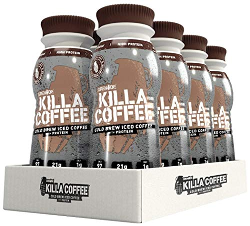 Grenade Killa Coffee Cold Brew Iced Coffee with Protein Bottles, 8 X 250ml 51zp 2B0lPqhL