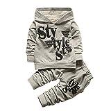 BOBORA Bambino ragazzi lettera stampa manica lunga Felpa con cappuccio camicie e Pantaloni bambini vestiti set 1-4 anni