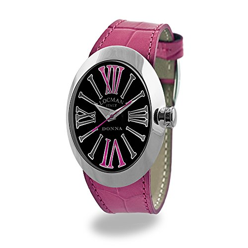 Locman Italy Women's Watch Donna Black and Pink Ref 041000