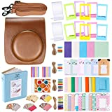 Neewer 56-en-1 Kit d'Accessoires pour Fujifilm Instax Mini 90 (Marron): Etui de Caméra avec Bandoulière Réglable , Cadres Divers, Album, Filtres de Couleur, Autocollant de Coin, , Autocollant de Photo Films Instant