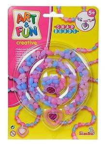 Simba 106374133 - Juego de Abalorios Transparentes Art & Fun - Snap Beads