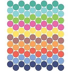 Tresxics Adhesivo de Pared Círculo, Vinilo, 40x32x3 cm, 100 Unidades