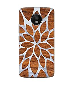 Be Awara Marvellous Wood & Marble Printed Back Case Cover for Moto E4 Plus