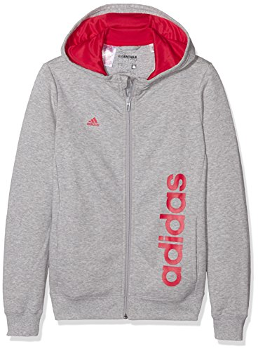 adidas-madchen-essentials-linear-kapuzenjacke-medium-grey-heather-ray-red-140