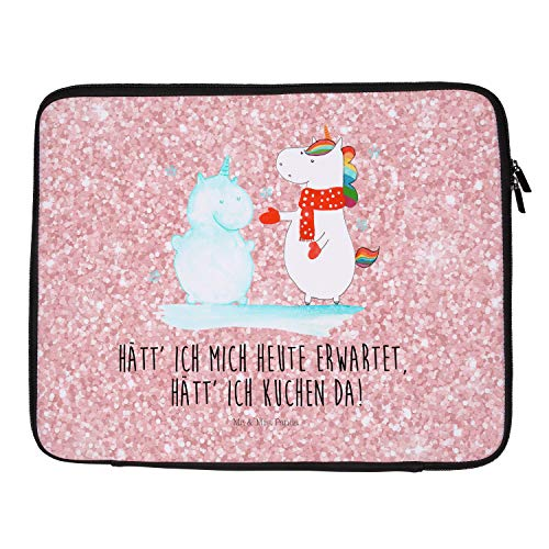Mr. & Mrs. Panda 33 x 42 Notebook Tasche Einhorn Schneemann - Einhorn, Unicorn,...