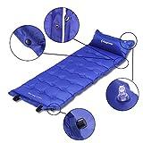 KingCamp Basecamp Extra große leicht selbst aufblasen schlafen Matte Camping Bett mit Kissen für Camping Wandern Outdoor Picnic (Blau) -