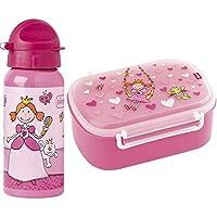 Preisvergleich für Sigikid 2er Set 24472 24482 Brotzeitbox Pinky Queeny + Trinkflasche Pinky Queeny