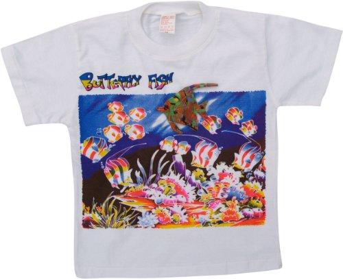 Kinder T-Shirt Hippie Goa mit `Fisch` / Oberteile & T-Shirts Weiß