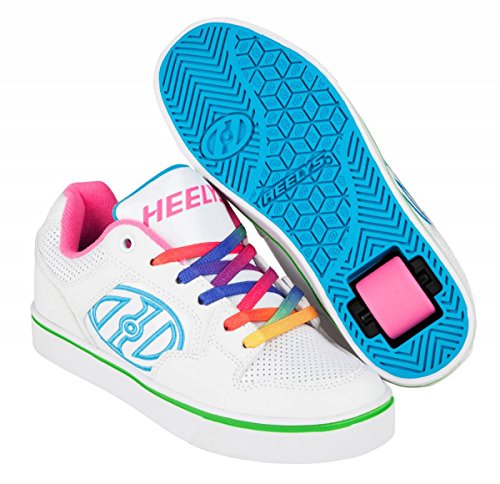 Heelys Motion Plus, Sneakers basses fille Blanc Cassé (White / Rainbow)
